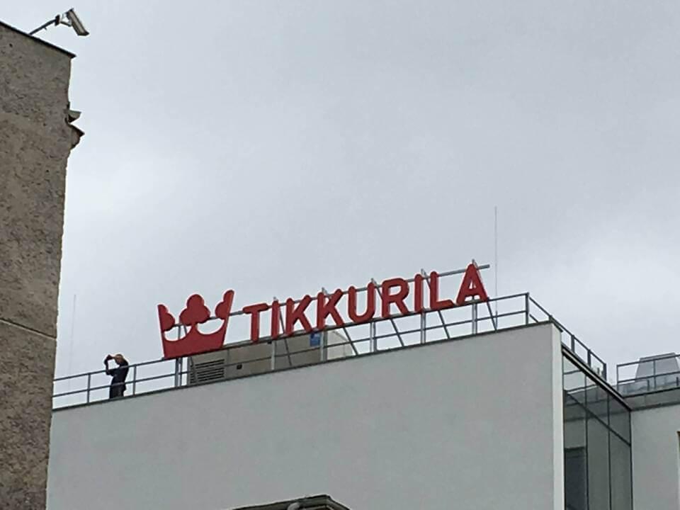 Tikkurila- Litery przestrzenne